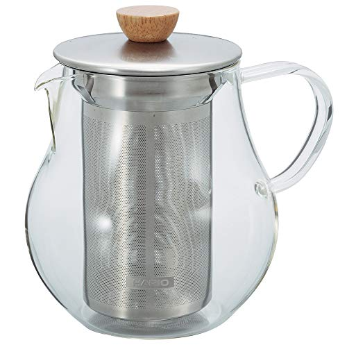Hario Glass Tea Pitcher with Stainless Steel Filter, 700ml