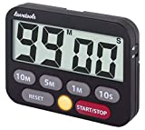 Lavatools KT3 Kitchen Timer & Stopwatch, Large Digits, Loud Alarm, Mute Function, Quick-Set Buttons, Magnetic Stand (Black)