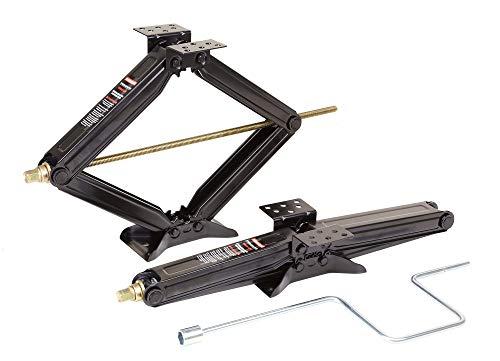 ROCKMAN Set of 2 5000lbs RV Trailer Stabilizer Leveling Scissor Jacks w/Handle