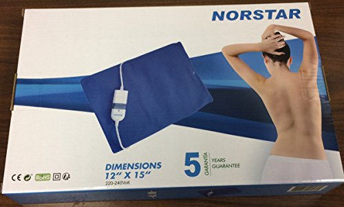 Norstar Moist and Dry Heating Pad for Overseas Use only 220/240 Volt (Will Not Work in The USA)