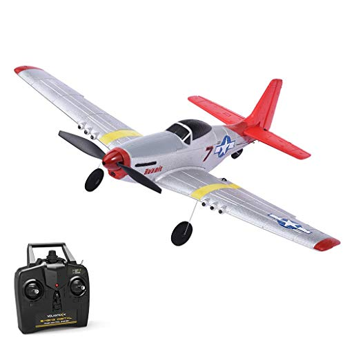 Remote Control Airplane, 2.4Ghz 4 Channel RC Plane Ready to Fly,DIY RC Airplane Toy Durable EPP Foam Built-in 6-Axis Gyro System, Easy to Fly RC Aircraft for Beginners Kids and Adults (White)