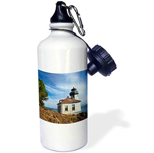 3dRose Danita Delimont - Washington - USA, Washington State, San Juan Island, Lime Kiln Point Lighthouse. - 21 oz Sports Water Bottle (wb_315158_1)