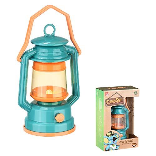 Kids Lantern Toy Camping Light - Mini Led Lamp Nightlight Battery Operated Lanterns - Tent Teepee Hanging Night Light for Children Toddler Toy Camper - Kids Camping Gear Green Lantern by K-F ToyJoy