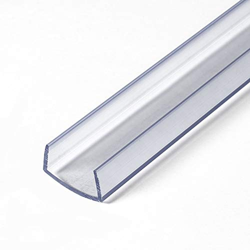 Outwater Plastics 341-Cl Clear 3/4' Rigid Vinyl Clear Plastic U-Channel/C-Channel 36 Inch Lengths (Pack of 4)