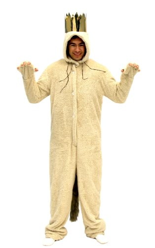 Where The Wild Things are Max Wolf Adult Costume (Adult Large) Tan