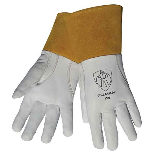 Tillman 1338 Top Grain Goatskin TIG Welding Gloves with 4' Cuff, X-Large