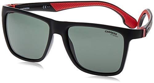 Carrera Men's CA5047/S Square Sunglasses, Black/Green, 56 mm