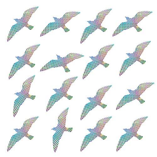 Bird Deterrent Window Decals for Bird Strikes, Window Alert Film Stickers Clings to Deter Birds, Stop Birds Flying Into Windows, Seagull, 16 Pieces