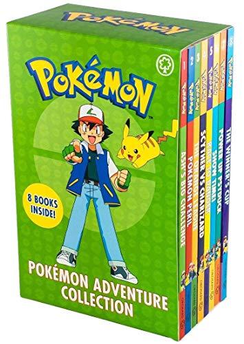 Pokemon Adventure Collection Series Books 1 -8 Set (Ash's Big Challenge, Pokemon Peril, Orange League, Scyther VS Charizard, Race to Danger and MORE!)