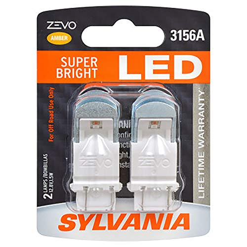 SYLVANIA - 3156 ZEVO LED Amber Bulb - Bright LED Bulb, Ideal for Park and Turn Lights (Contains 2 Bulbs)
