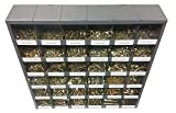2715 Piece Fine Thread UNF SAE Grade 8 Bolt, Nut, and Washer Assortment with 36 Hole Adjustable Bin