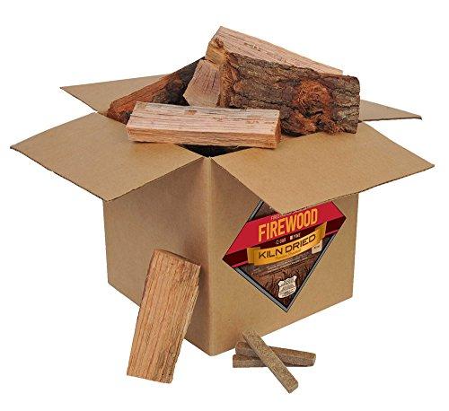 Smoak Firewood - Kiln Dried Premium Oak Firewood (Includes Firestarter) (Small Mini Logs (8 inch Pieces) 25-30lbs)