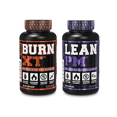 Burn XT Thermogenic Fat Burner & Lean PM Nighttime Weight Loss Supplement for Men & Women 60 Veggie Diet Pills