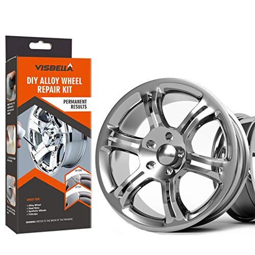 Visbella DIY Alloy Wheel Repair Adhesive Kit Rim Surface Damage Car Auto Rim Dent Scratch Care (Paper Packaging) (hub-227)