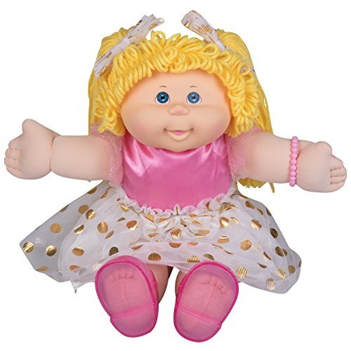 Cabbage Patch Kids Vintage Retro Style Yarn Hair Doll - Original Blonde Hair/Blue Eyes, 16' - Amazon Exclusive - Easy to Open Packaging