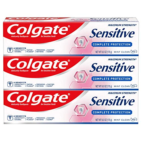 Colgate Sensitive Toothpaste, Complete Protection, Mint - 6 ounce (Pack of 3)