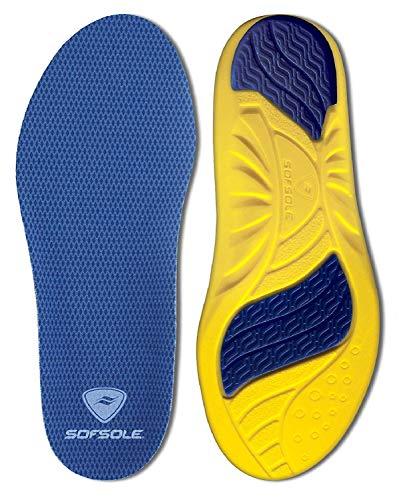 Sof Sole Insoles Athlete Neutral | Performance Full-Length Gel Shoe Insert | Color Blue (Men 13-14)