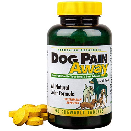 Dog Pain Away - Vet Approved Dog Pain Reliever (90 Count) - Fast Acting Pain Relief Supplement to Repair Connective Tissue & Help Alleviate Hip & Joint Pain - Made in The USA