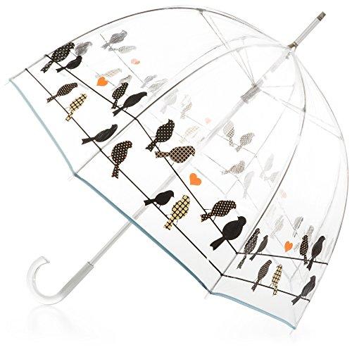 totes Signature Bubble Umbrella - Manual Open, One Size - Birds on a Wire