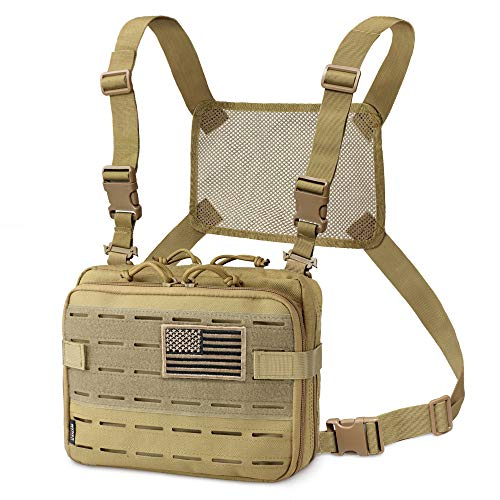 WYNEX Tactical Molle Admin Pouch of Laser Cut Design, Utility Pouches Molle Attachment Military Medical EMT Organizer with Map Pocket EDC EMT Pack IFAK Tool Holder Universal U.S.A Patch Included