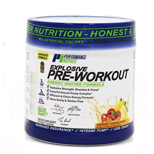 Performance Inspired Nutrition Explosive Pre-Workout, Raspberry Lemonade, 1.49 Lb Style #: Prelem