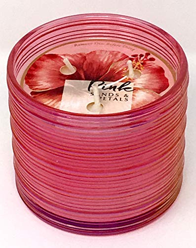 Bath & Body Works Candle 3 Wick 13.5 Ounce Pink Sands & Petals