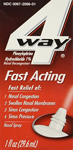4-Way Fast Acting Nasal Spray, 1 fl.oz. Pr Bottle (6 Bottles)