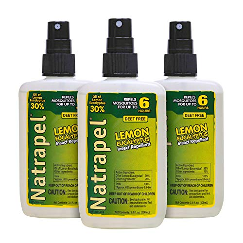 Natrapel Lemon Eucalyptus Bug Repellent Pump, 3.4 oz (Pack of 3)
