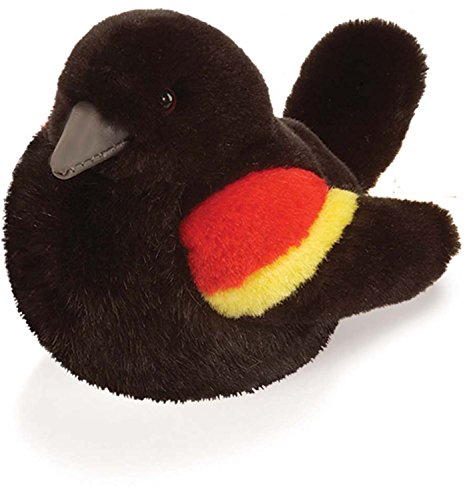 Red Winged Blackbird - Audubon Plush Bird (Authentic Bird Sound)