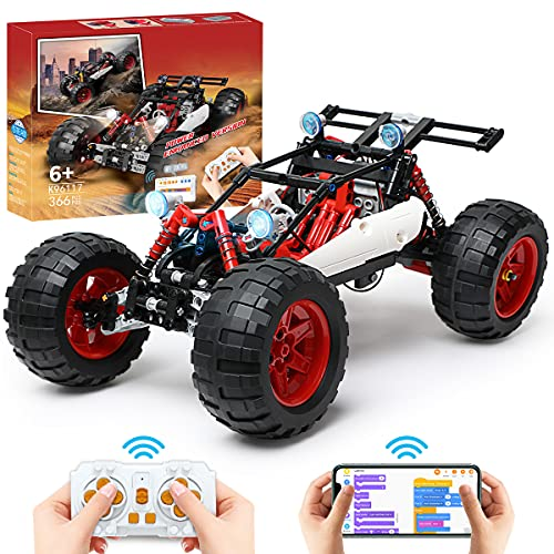 2021 New STEM Remote Control Car, APP Programming & RC Car Building Toys for Kids, Speed Building RC Race Car Kit, Building Sets Monster Truck, Gift idea for Boys Ages 6 7 8 9 10 11 12+ Year Old