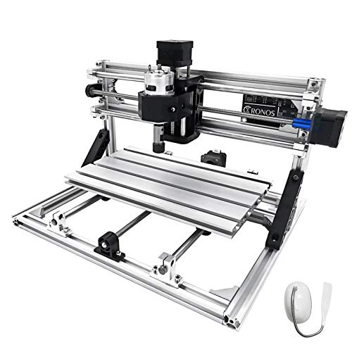 VEVOR CNC 3018 CNC Router Kit 3 Axis CNC Router Machine GRBL Control with ER11 and 5mm Extension Rod for Plastic Acrylic PCB PVC Wood Carving Milling Engraving Machine