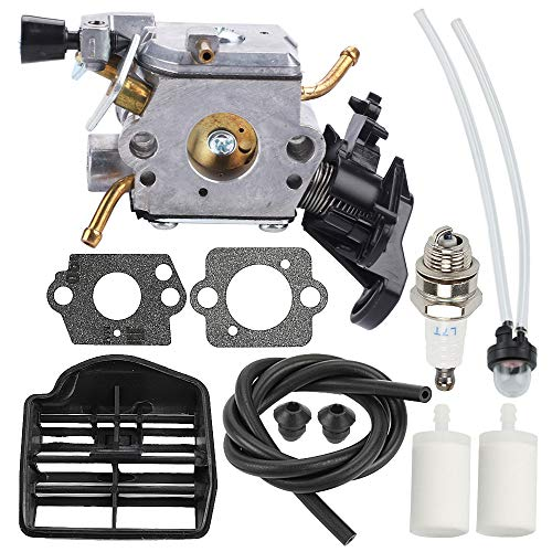 Powtol Mckin C1M-EL37B 506450401 Carburetor for Husqvarna 445 445E 450 450E Gas Chainsaw with Air Filter Tune Up Kit