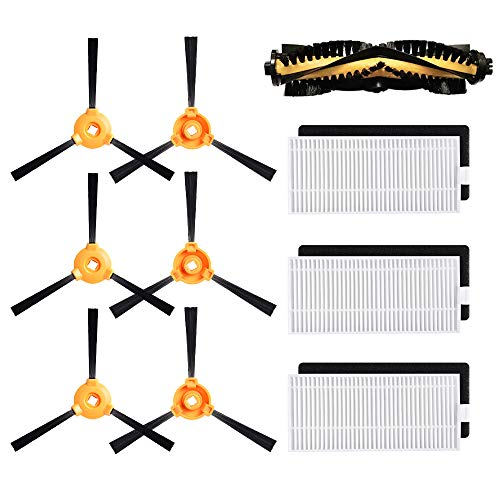 Replacement Parts for DEEBOT N79S N79 500 DN622 Main Brush, Filter, Side Brush Accessory Kit for Ecovacs DEEBOT Robotic Vacuum Cleaner