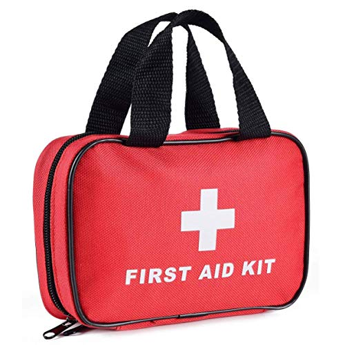 SlimK Small First Aid Kit for Car Travel & Outdoor Emergency Like Minor Cuts, Scratch, Burns & Sprain - 112 Pieces of Premium Sterile Emergency Kit First Aid Supplies - Compact & Lightweight Bag