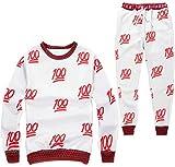 Emoji Printing Pretty Sweatpants Joggers Sweatshirt Pants Sweatsuits US Size L/Tag XL Red