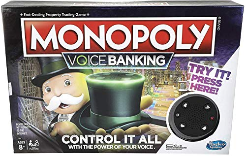 Monopoly Voice Banking Electronic Family Board Game for Ages 8 & Up