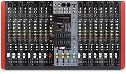 NOVIK NEO NVK-16M USB MIXER, NOW WITH BLUETOOTH, MP3 player, Compatible with USB and SD memories, DSP with 99 internal effects, 3 Stereo channels, Graphic Equalizer