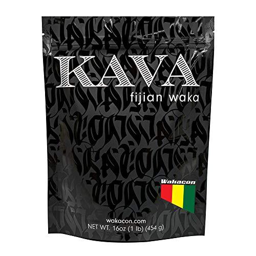 Wakacon KAVA WAKA Powder - Fijian Noble Premium Quality Kava Root (16oz)