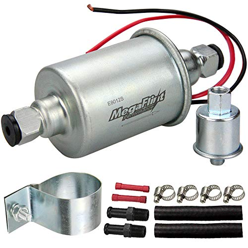 Megaflint E8012S Universal Electric Fuel Pump Low Pressure 5-9 PSI 12V w/Installation Kit