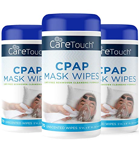 Care Touch CPAP Cleaning Mask Wipes - Unscented, Lint Free - 210 Wipes