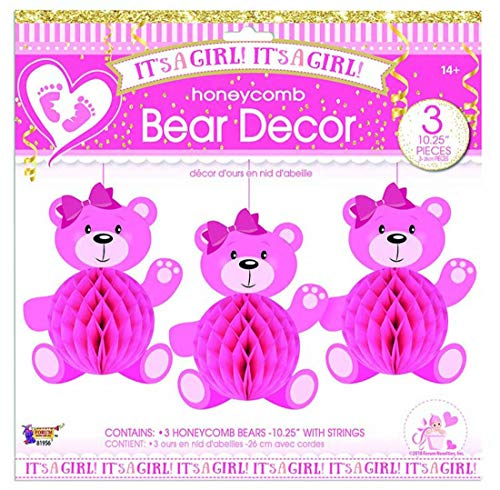 Forum Novelties It's A Girl Honeycomb Bears (3)