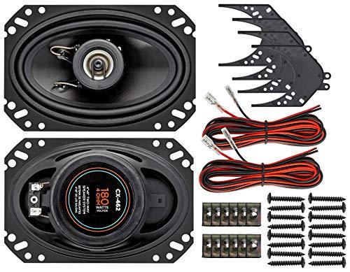 InstallGear 4' x 6' Two-Way Car Speaker System