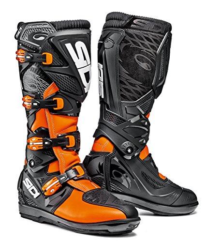 Sidi X-Treme SRS Motorcycle Boot, Orange Fluo/Black, Size 43