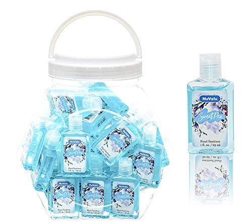 NuValu Sweet Pea Scented Anti-bacterial Hand Sanitizer (1fl. oz. bottles), 48 PACK (Baby Blue)
