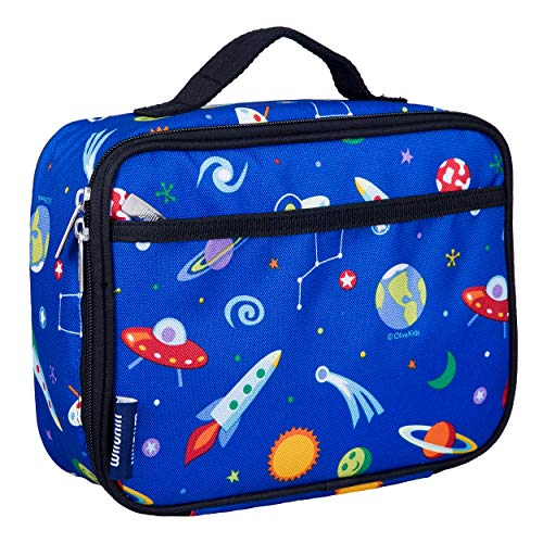 Wildkin Insulated Lunch Box Bag for Boys and Girls Perfect Size for Packing Hot or Cold Snacks for School and Travel, Mom's Choice Award Winner, BPA-free, Olive Kids, World