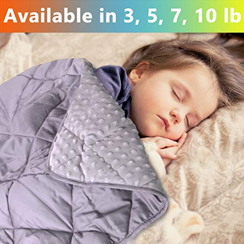MAXTID Weighted Blanket for Toddler 3 lb 36x48 Polyester & Minky Premium Kids Heavy Blanket with Glass Beads