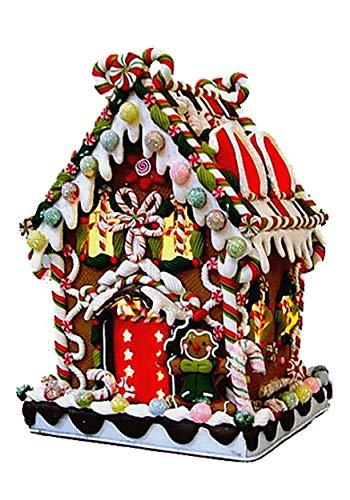 Kurt Adler 8' Claydough Gingerbread House w/Lights - ST