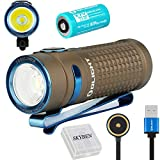Olight S1R II 1000 Lumens CW LED Single IMR16340 Powered Upgraded Magnetic USB Rechargeable Side-switch EDC Flashlight with Battery (Desert Tan)