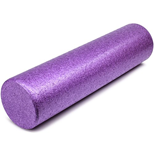 Yes4All EPP Exercise Foam Roller – Extra Firm High Density Foam Roller – Best for Flexibility and Rehab Exercises (12 inch, Purple)