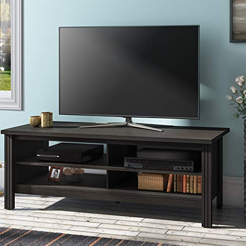 Farmhouse TV Stands for 65 '' Flat Screen, Wood TV Console Table Storage Cabinet, Living Room Storage Entertainment Center, Black